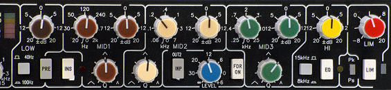 Equalizer und Limiter im Channel Strip ToolKit