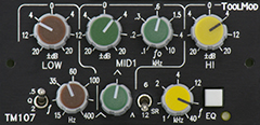 3-Band-EQ 20 dB, Version h