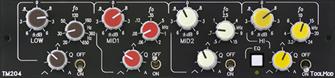 vollparametrischer 4-Band Stereo Mastering Equalizer Version h