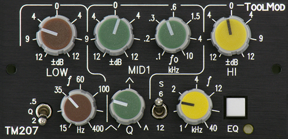 3-Band-Stereo-EQ 12 dB, Version h