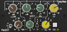 3-Band-Stereo-EQ 20 dB, Version h